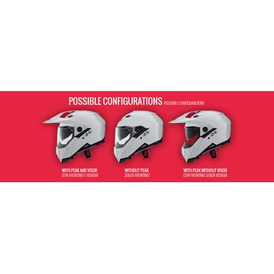 Caberg X-Trace Helmet Possible Configurations