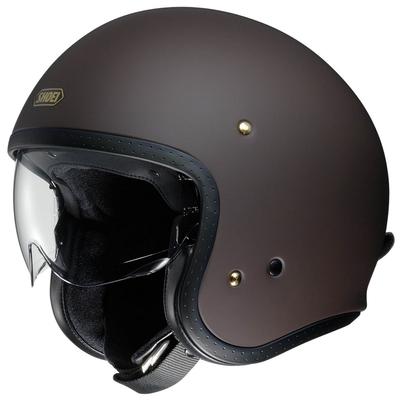 Shoei J.O matt brown motorcycle helmet