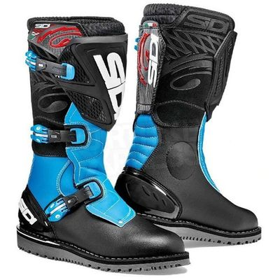 Sidi Trial Zero 1 Motocross Trials boots black light blue