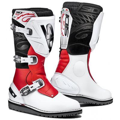 Sidi Trial Zero 1 Motocross Trials boots white red