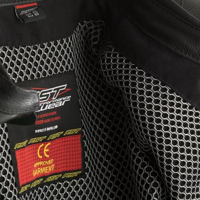 RST GT CE Leather Jacket - Black / White