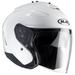 HJC IS-33 2 White Open Face Helmet Black
