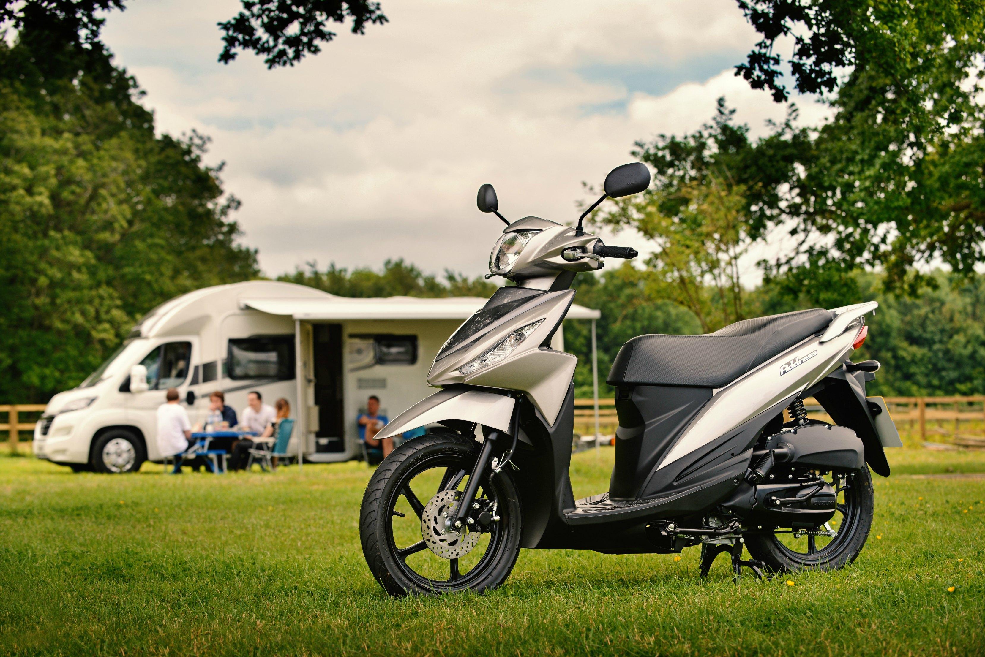 Suzuki Address 110 motorhome scooter