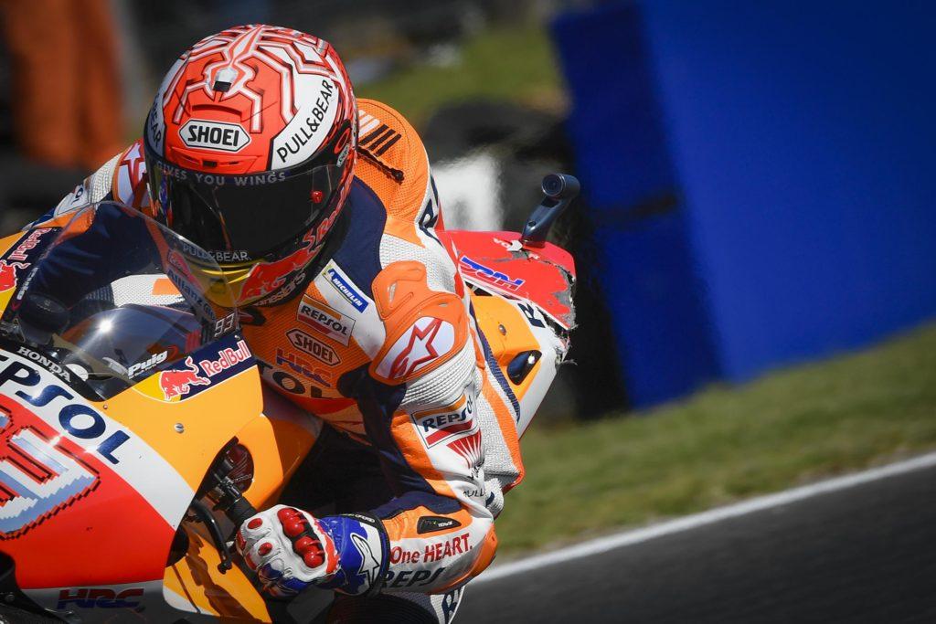 2018 MotoGP Australia - Marquez Battered Bike