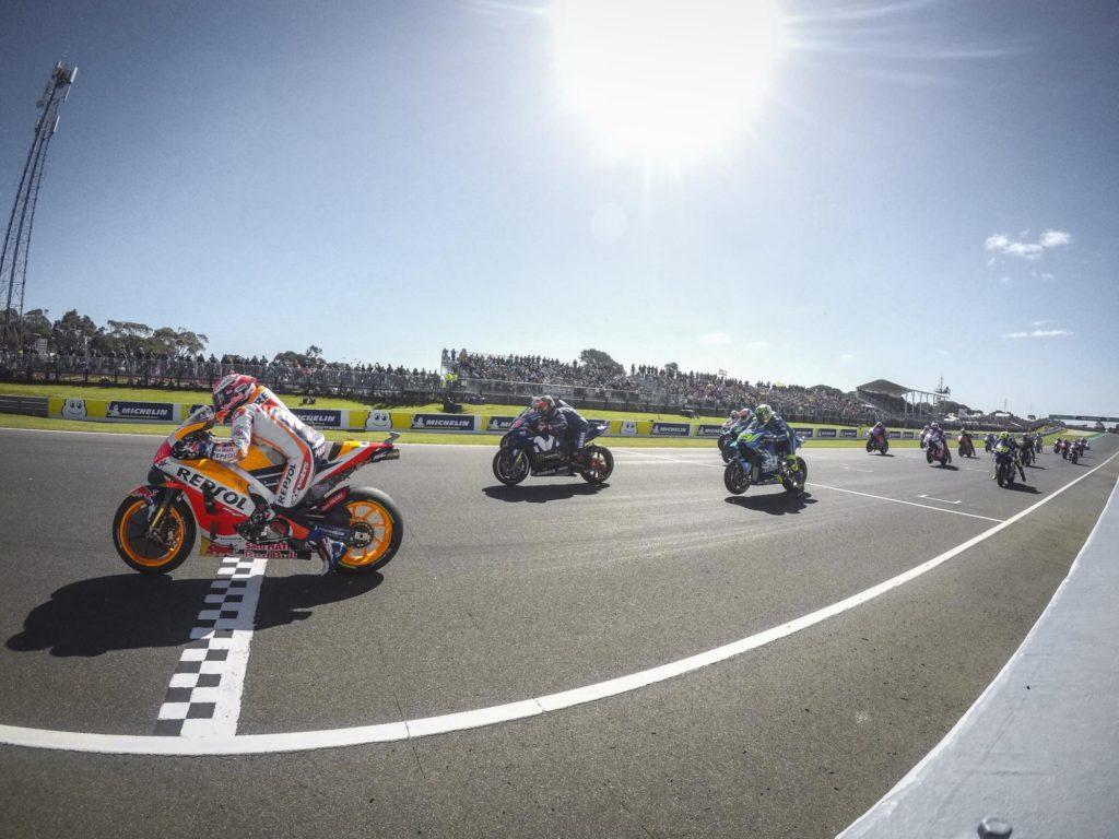 2018 MotoGP Australian - Start Line